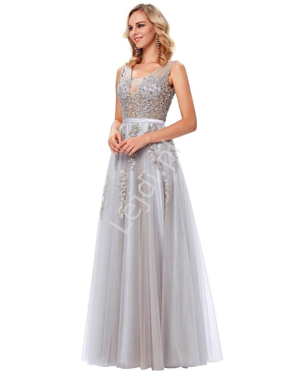 4673549c2f Suknia wieczorowa szara