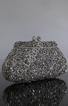torebka wieczorowa z kryształkami