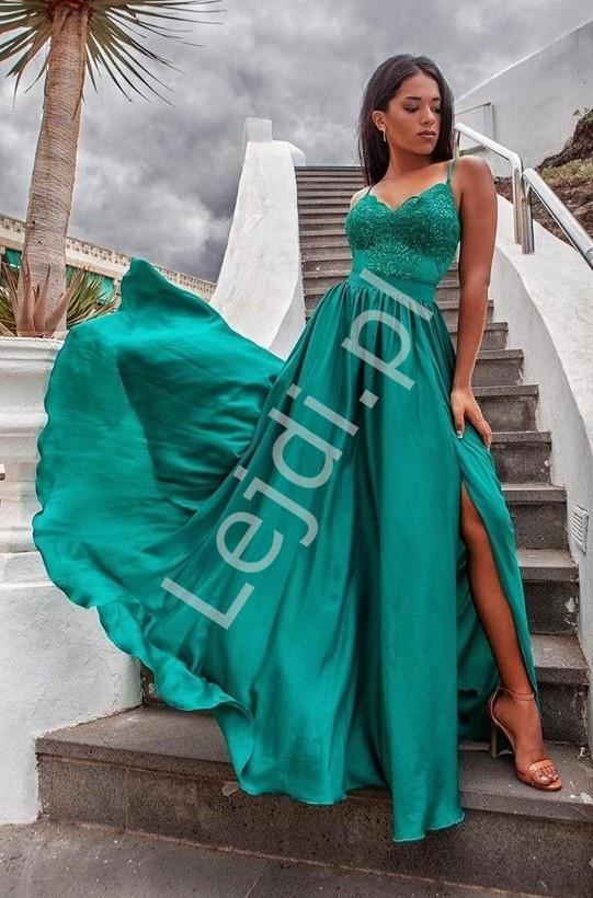 Wieczorowa sukienka na studniówkę lub wesele, Bella szmaragdowa - Lejdi