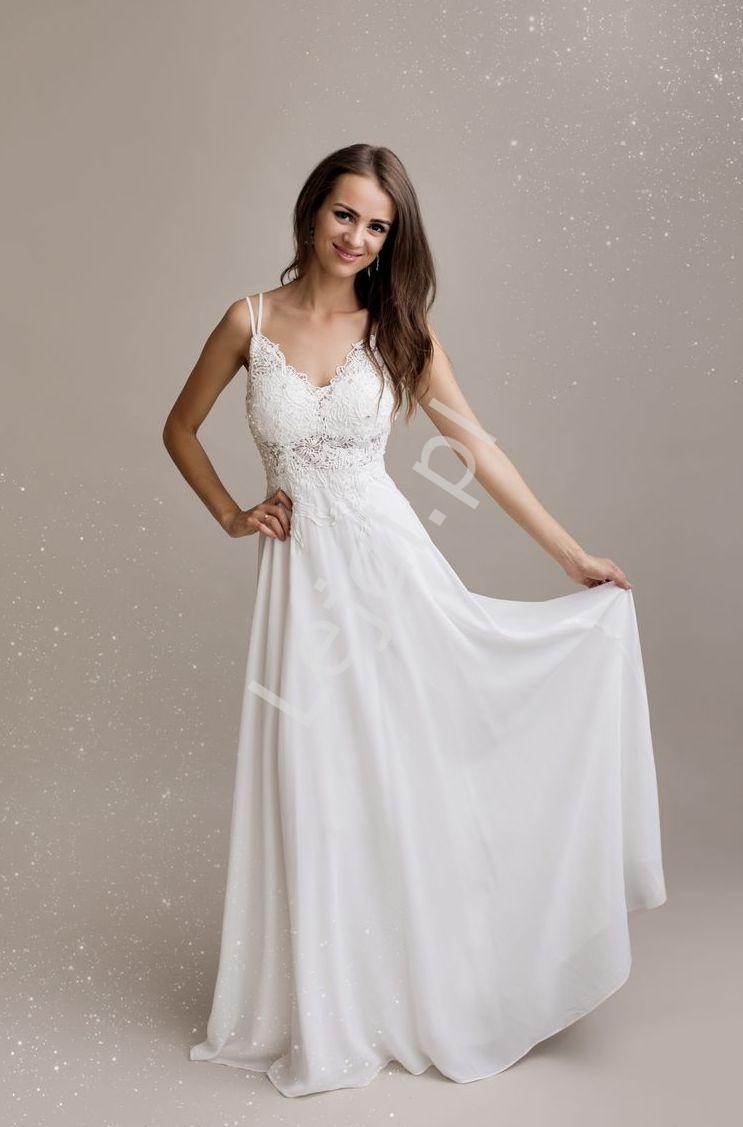 Wspaniała suknia ślubna, delikatna i bardzo kobieca 1359 - Lejdi