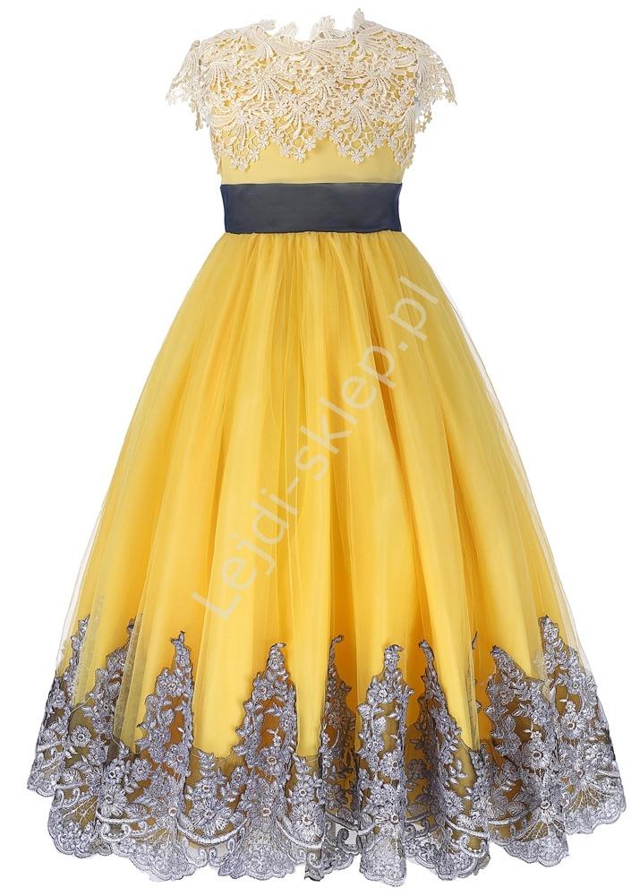 Wyjątkowa sukienka dziewczęca, eleganckie kreacje dla dziewczynek - Lejdi