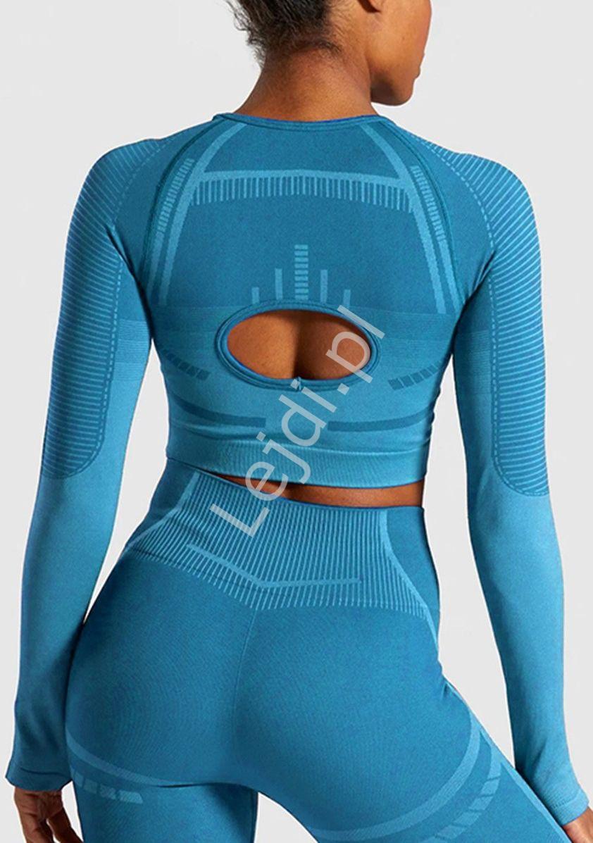 Sportowa bluzka bezszwowa z długim rękawem 0026 - Lejdi