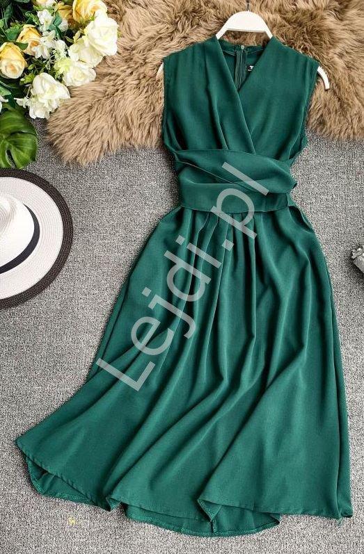 Zielona sukienka na wesele, poprawiny, komunie 0961 - Lejdi