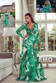 b88421a793 Zielona zwiewna suknia - suknia gwiazd Małgorzata Rozenek - Majdan