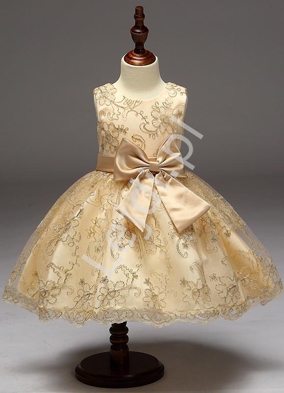 9096d2f377 Złota sukienka dla małej księżniczki dla dziewczynek - Lejdi.pl