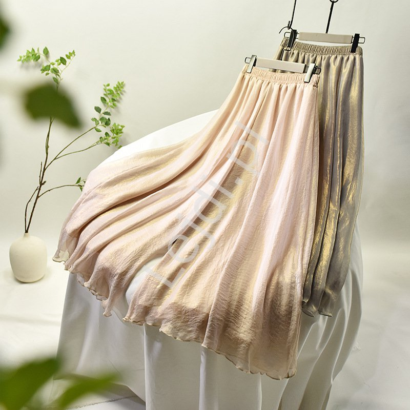 Złoto beżowe spódnico spodnie 6671 - Lejdi