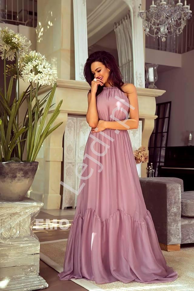 Zwiewna sukienka pudrowo różowa Alissa - Lejdi